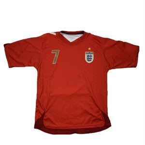 VTG FC England David Beckham Soccer Jersey L